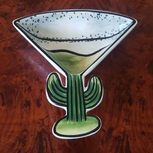 Margarita glass dip bowl